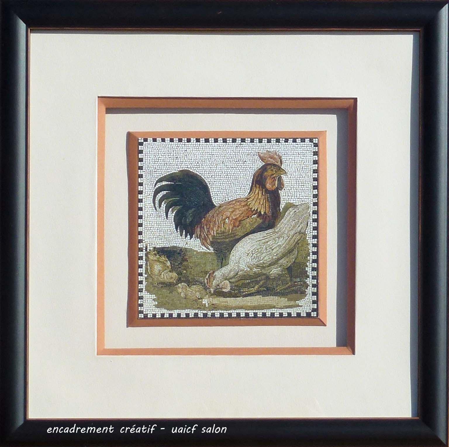 Coq mosaïque
