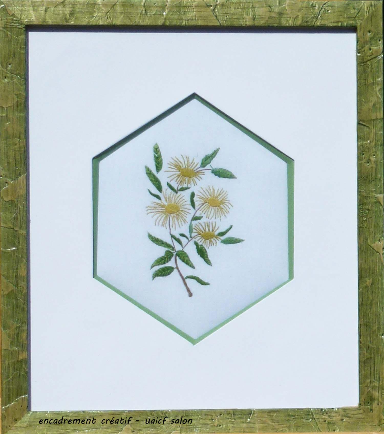 Fleurs hexagone