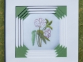 Broderie fleur blanche